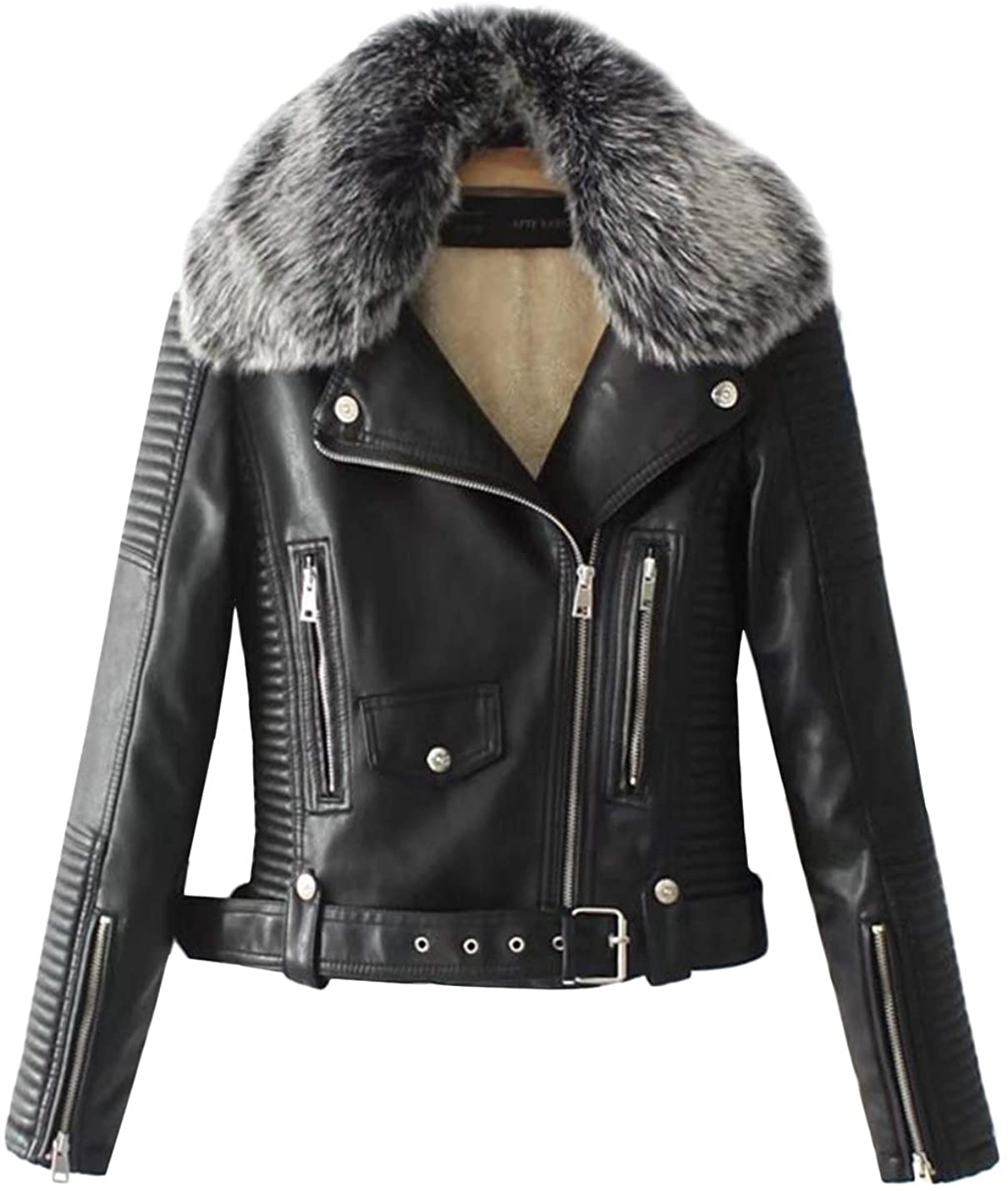 faux leather coats & jackets