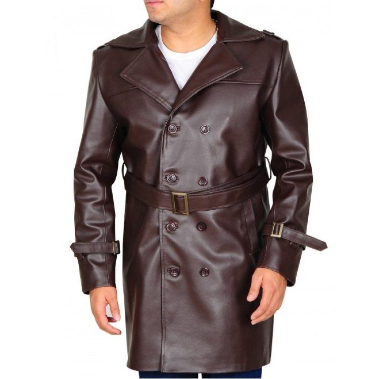 genuine leather trench coats