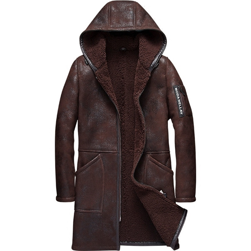 men's shearling coats & jackets