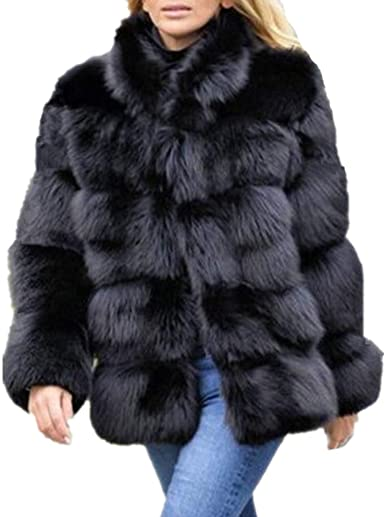 women's faux fur coats & jackets
