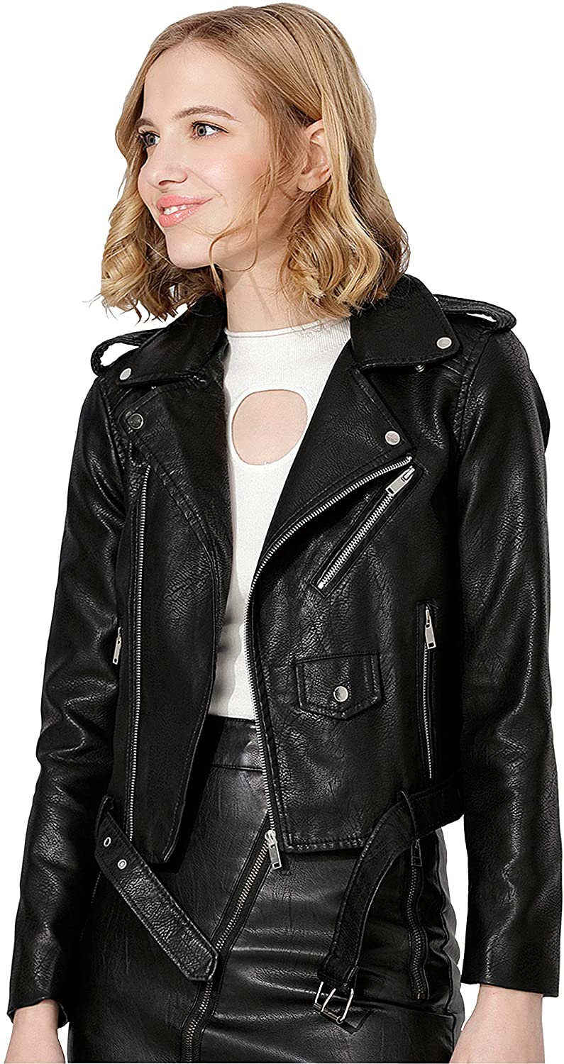 women's faux leather coats & jackets