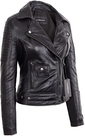 women's genuine leather motorcycle jackets